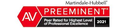 Preeminet criminal defense by Martindale-Hubbell